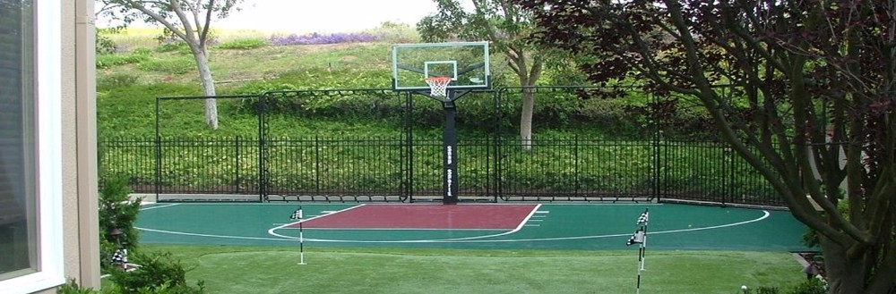 Basketball backyard courts installation