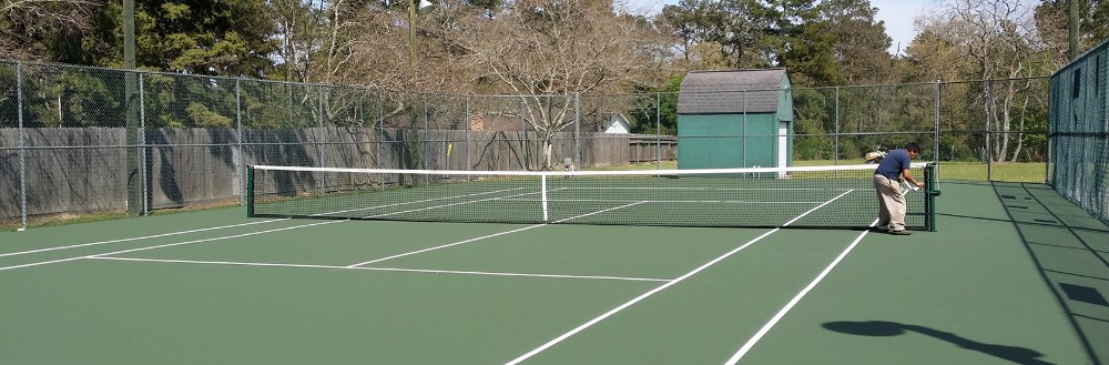 Tennis nets replacement,  windscreens, hitting walls, lighting systems, are just a few of the court products we sell and install it, too.